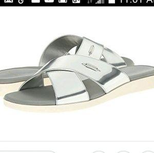 Haan Augusta sandal silver slide